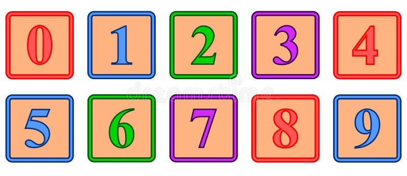 blocknummer royaltyfri illustrationer
