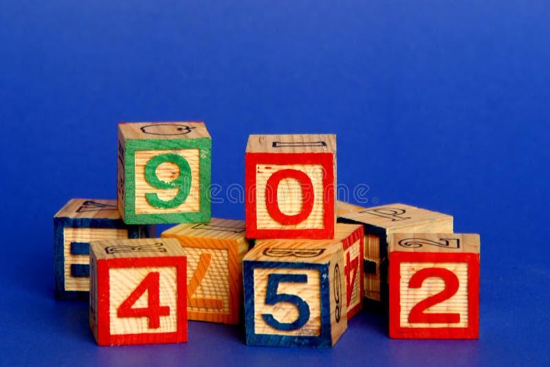 Blocknummern lizenzfreies stockfoto
