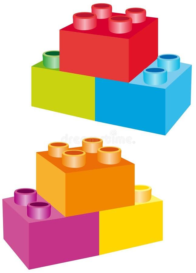 Blocks. Vector illustration shows color blocks vector illustration