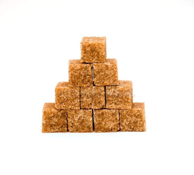 Blocks of brown sugar royalty free stock images