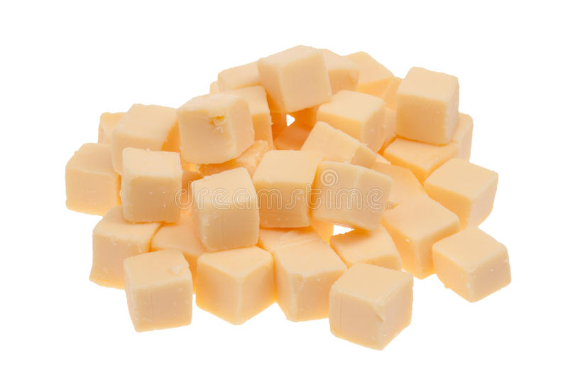 Blocks of cheese isolated royalty free stock images
