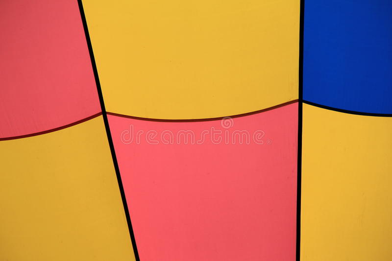 Blocks of color in background. Background blocks of bold color outlined in black on hot air balloon stock photos