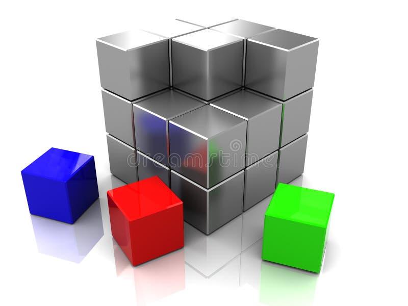 Blocks construction vector illustration