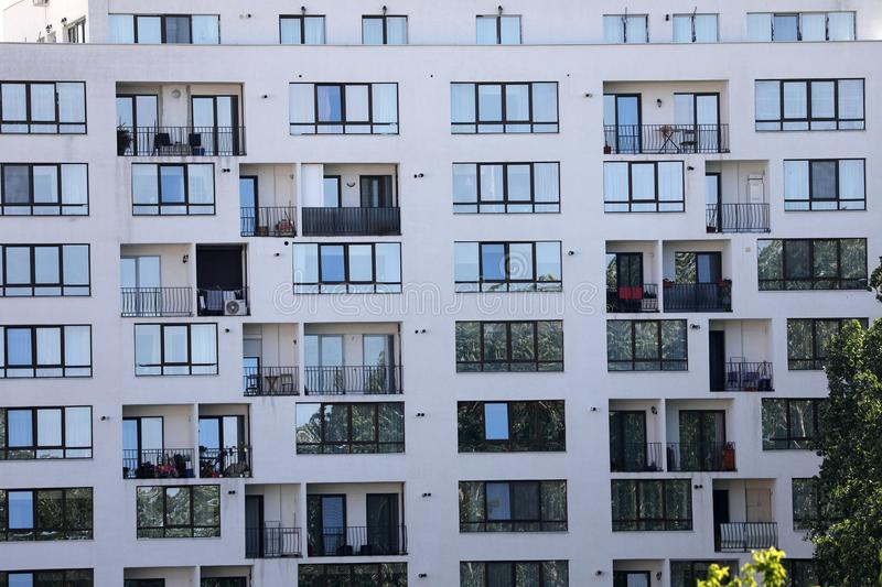 Blocks of flats. New residential block of flats, real estate industry royalty free stock images