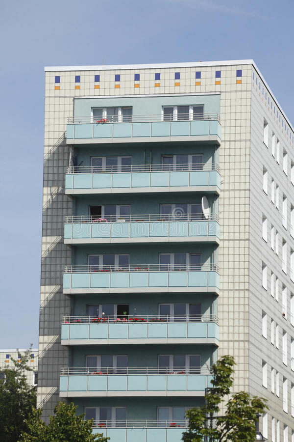 Blocks of Flats. And roofs in Berlin-Mitte stock image
