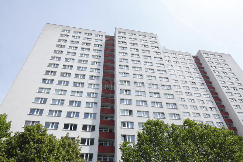 Blocks of Flats. And roofs in Berlin-Mitte royalty free stock photos