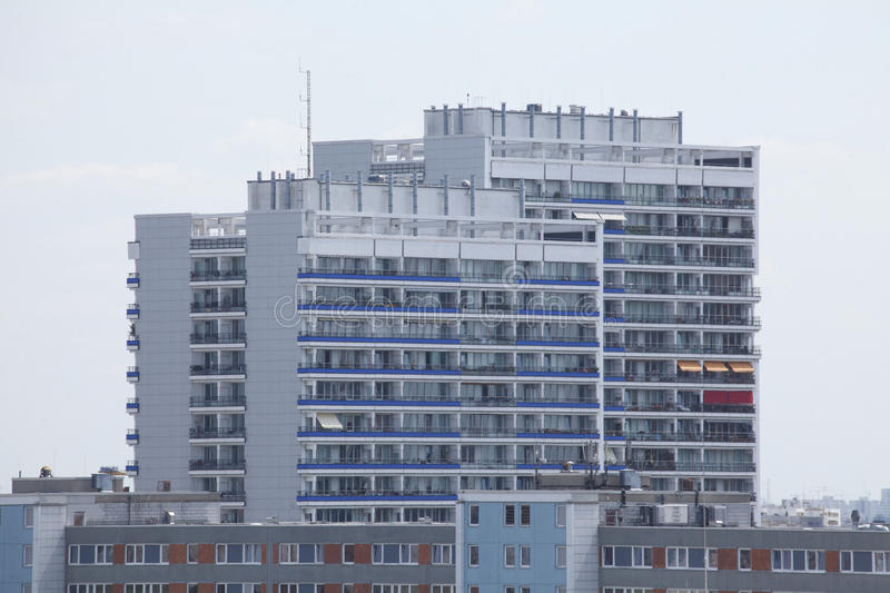 Blocks of Flats. And roofs in Berlin-Mitte stock photos