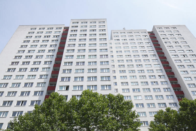 Blocks of Flats. And roofs in Berlin-Mitte stock photography