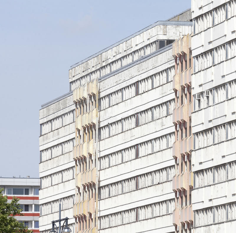 Blocks of Flats. And roofs in Berlin-Mitte stock photo