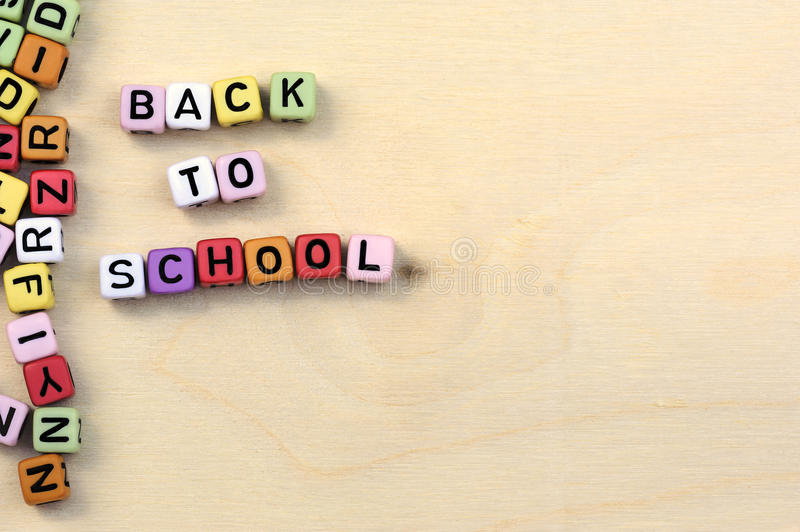 Blocks with letters back to school royalty free stock images
