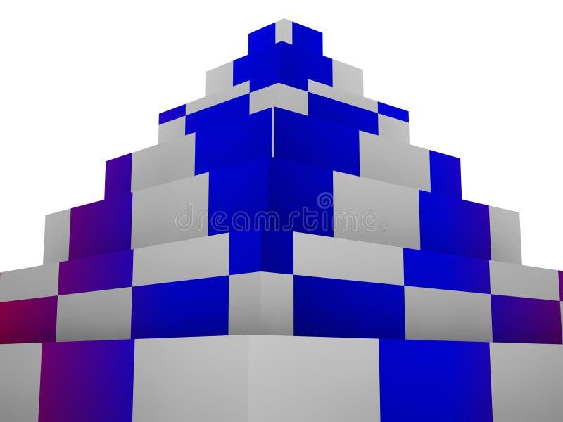Download Blocks pyramid stock illustration. Illustration of cube - 11687357