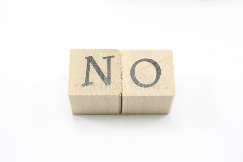Blocks spell No royalty free stock photo