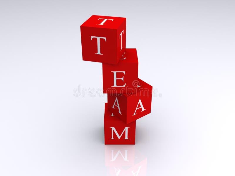 Blocks spelling word team royalty free illustration