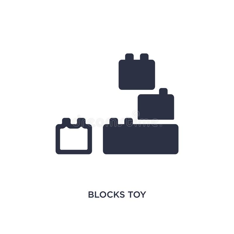 Blocks toy icon on white background. Simple element illustration from toys concept. Blocks toy icon. Simple element illustration from toys concept. blocks toy stock illustration