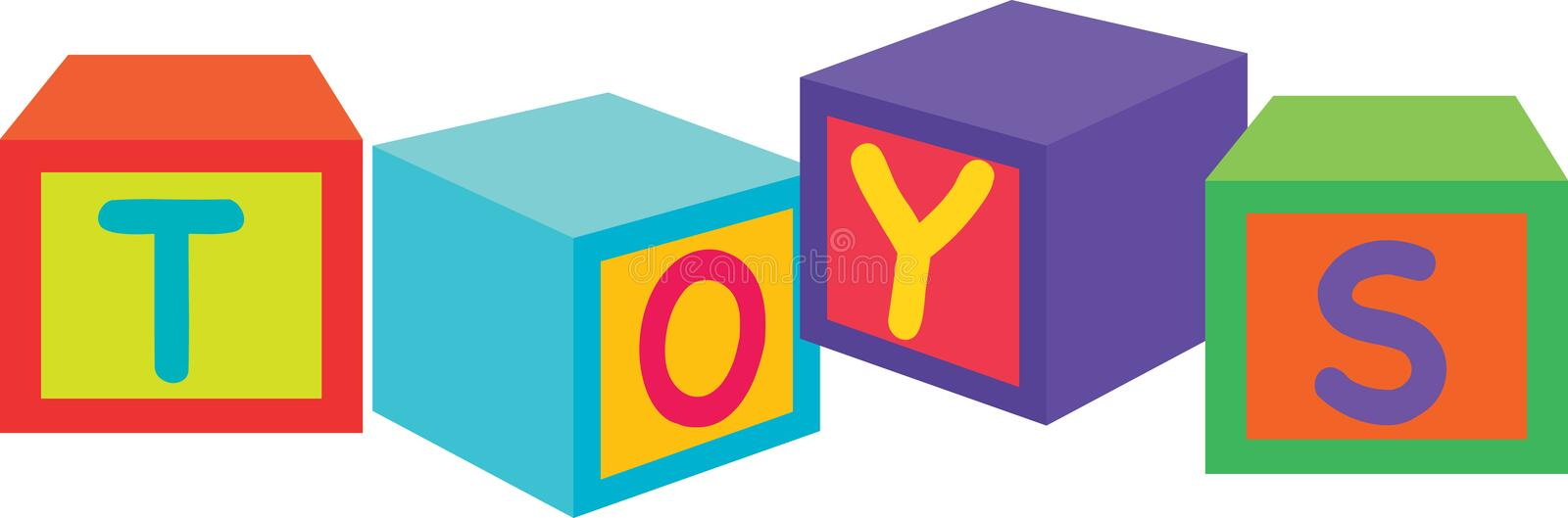 blocktoys stock illustrationer