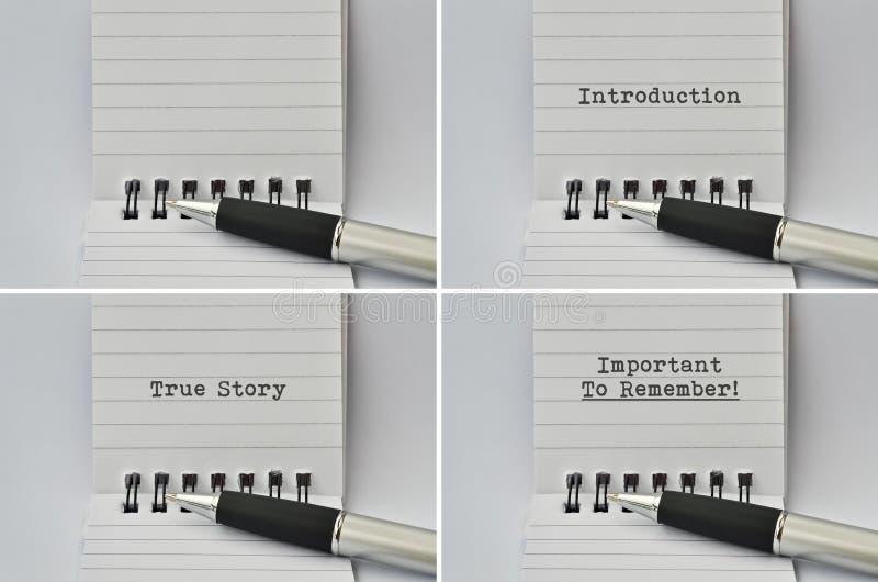 Blocnote en een pen royalty-vrije stock afbeeldingen