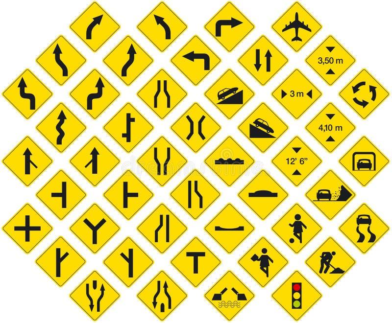 Bloco 3 dos sinais ilustração stock