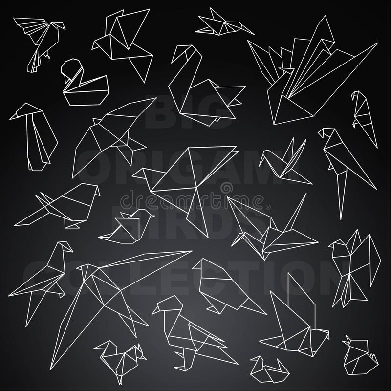 Bloco animal do origâmi grande ilustração royalty free