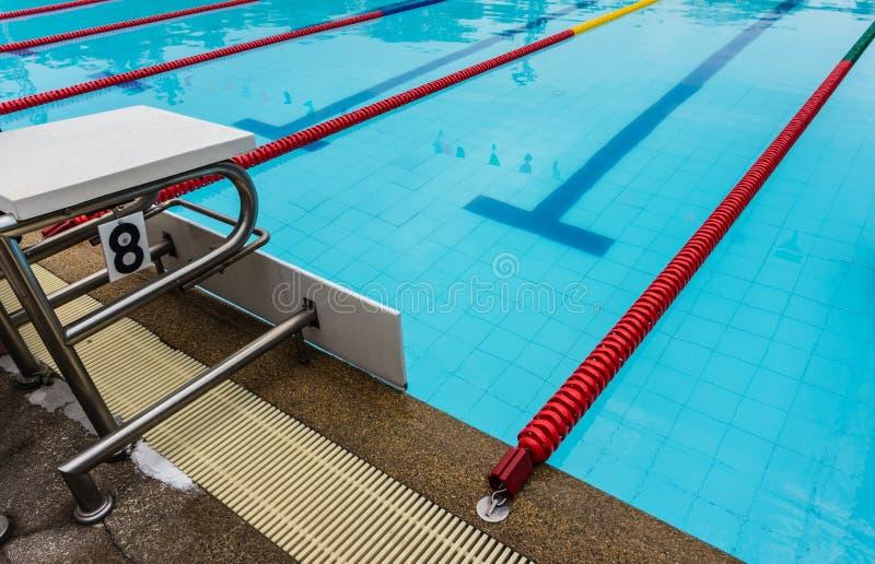 Bloco começar da piscina nenhum 8 exteriores fotos de stock