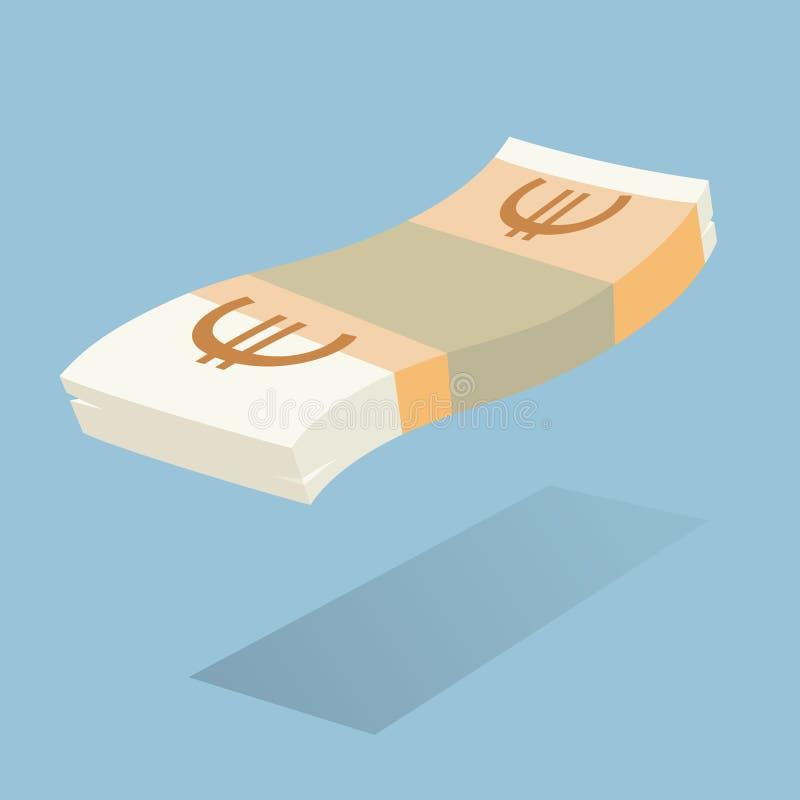 Bloco da moeda europeia ilustração stock