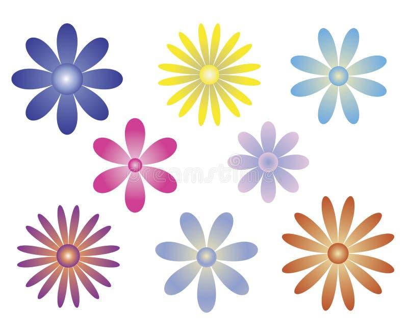Bloco da variedade da flor fotografia de stock royalty free