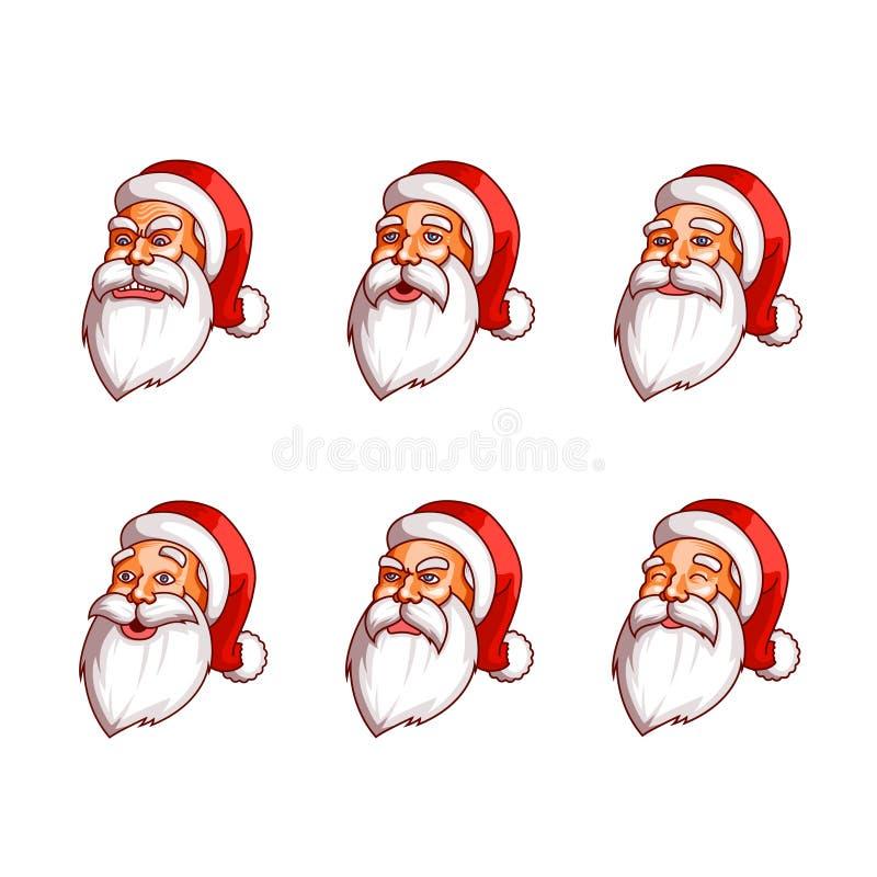 Bloco das emoções de Santa Claus ilustração stock