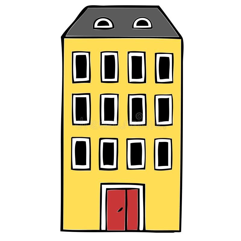 Bloco de apartamentos fotografia de stock royalty free