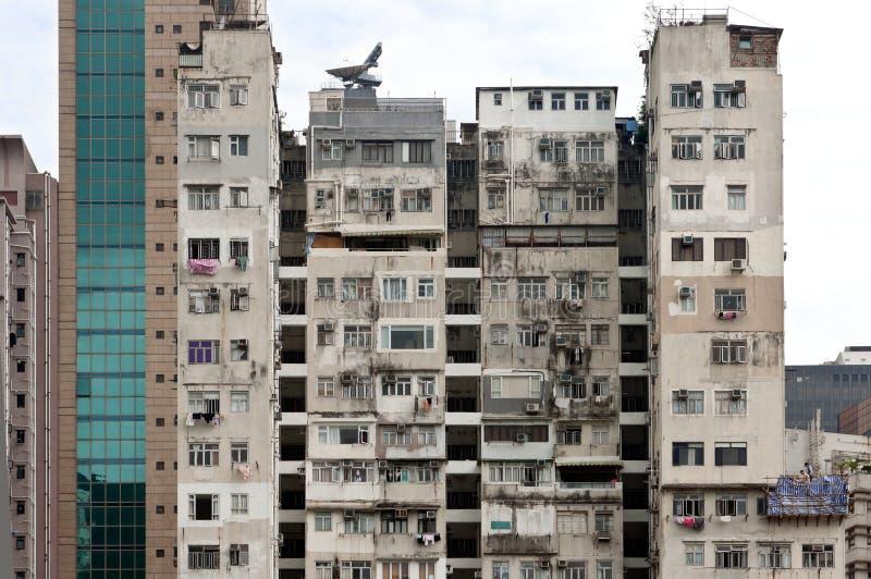 Bloco de apartamentos de Hong Kong em Kowloon imagem de stock
