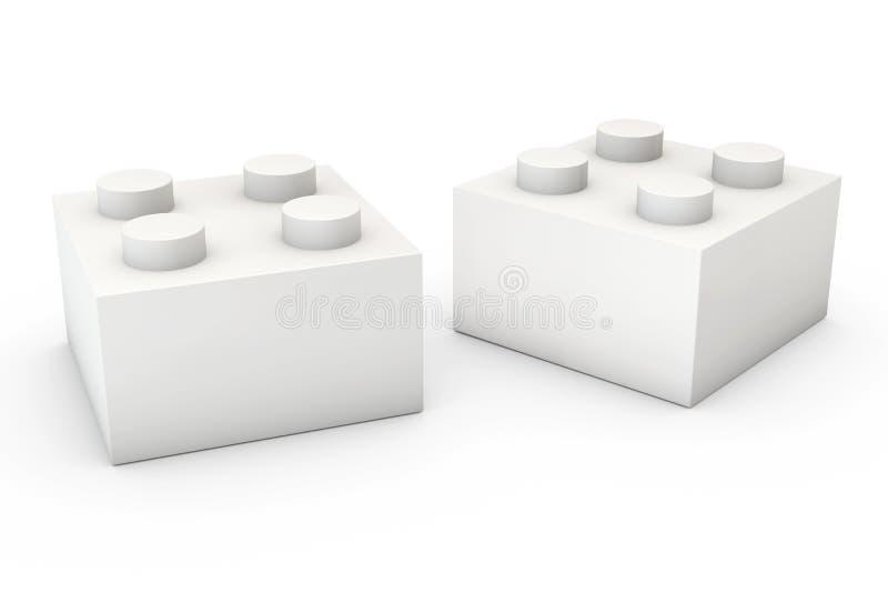 Bloco de apartamentos no branco ilustração stock