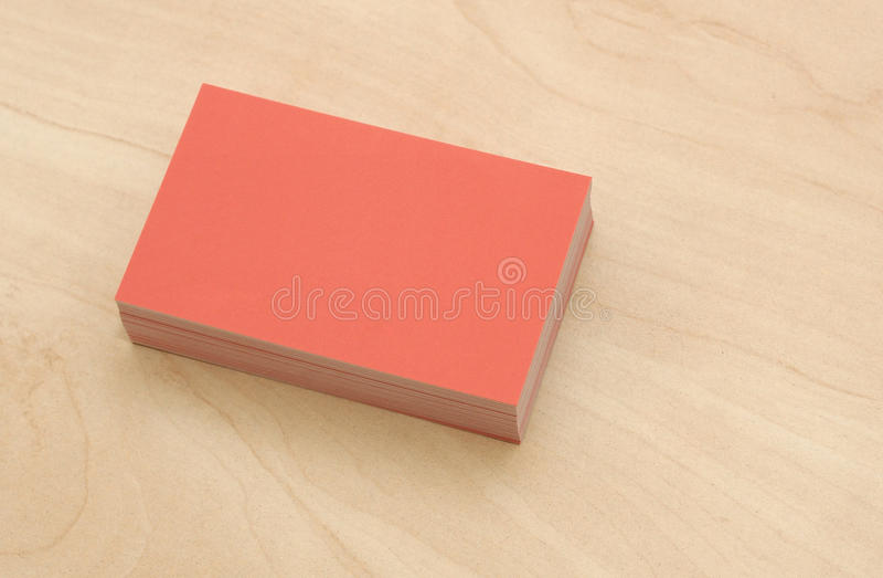 Bloco de cartões imagens de stock