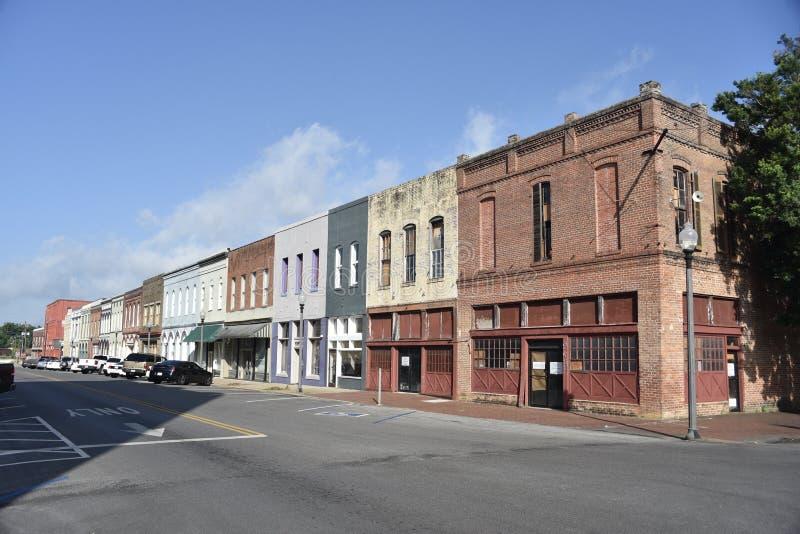Bloco de cidade do centro, meridiano, MS imagem de stock