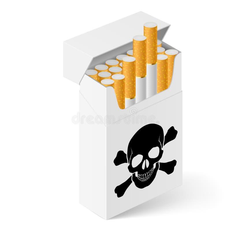 Bloco de cigarros branco ilustração do vetor