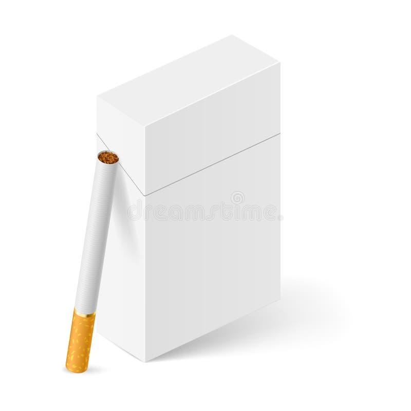 Bloco de cigarros branco ilustração stock