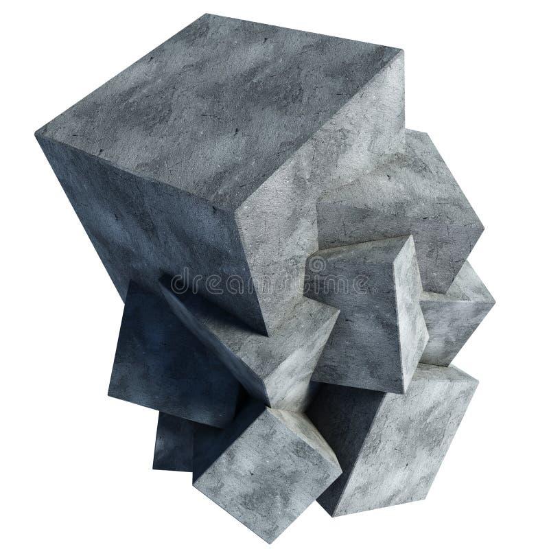 Bloco de cimento da ilustração ilustração stock