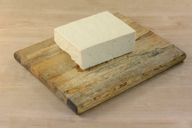Bloco de corte firme extra do tofu imagem de stock