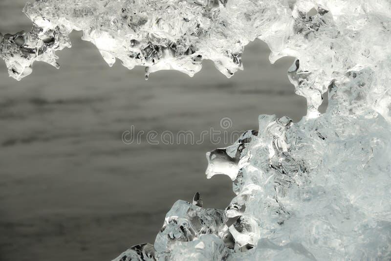 Bloco de gelo em Diamond Beach fotografia de stock royalty free