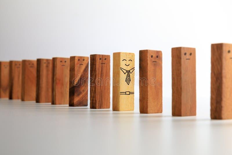 Bloco de madeira proeminente, diferente foto de stock