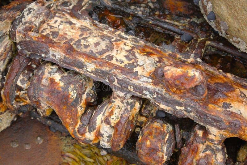 Bloco de motor oxidado fotos de stock royalty free