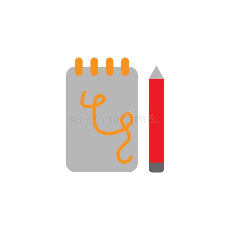 Bloco de notas, ícone do lápis Elemento do ícone de Desing da Web para apps móveis do conceito e da Web O bloco de notas detalhad ilustração royalty free