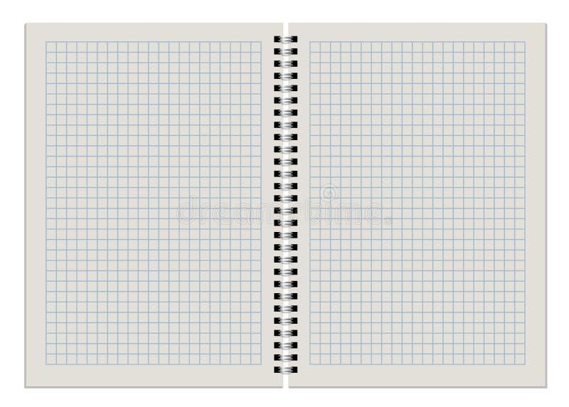 Bloco de notas checkered vazio ilustração stock
