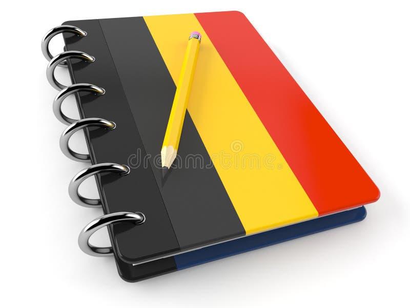 Bloco de notas com bandeira belga ilustração royalty free