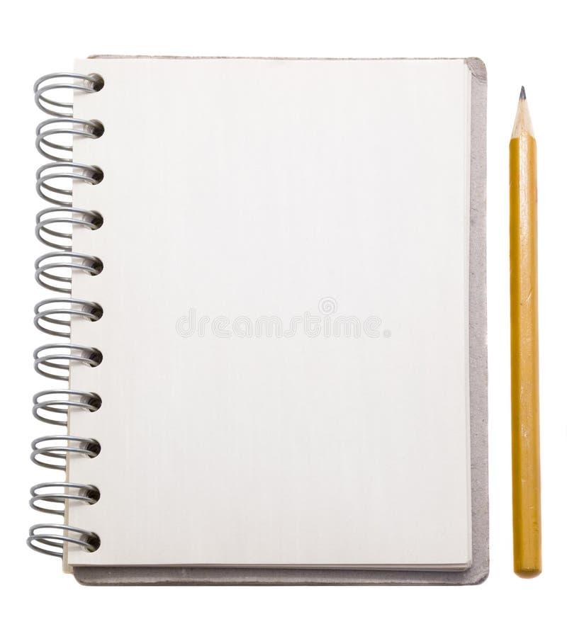 Bloco de notas com lápis fotos de stock
