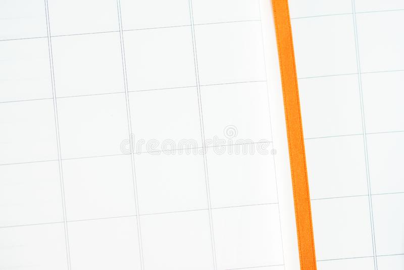 Bloco de notas com teste padrão de grade do bloco imagem de stock royalty free