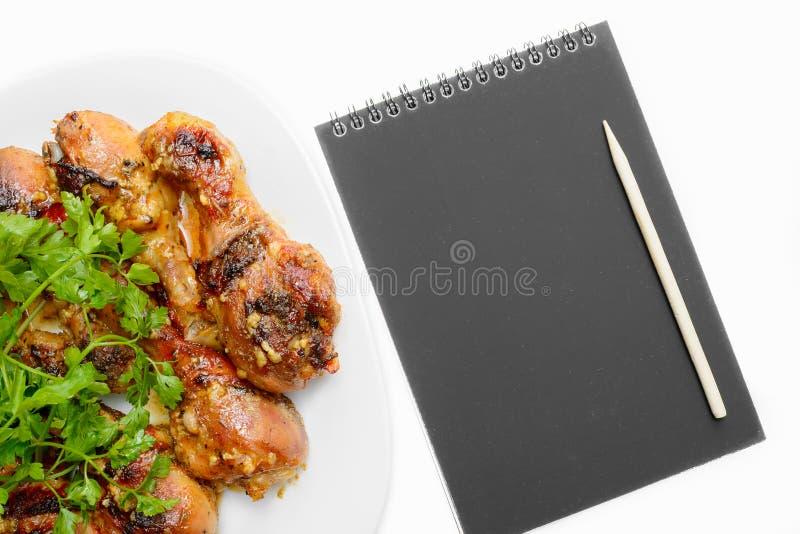 Bloco de notas da galinha fotos de stock