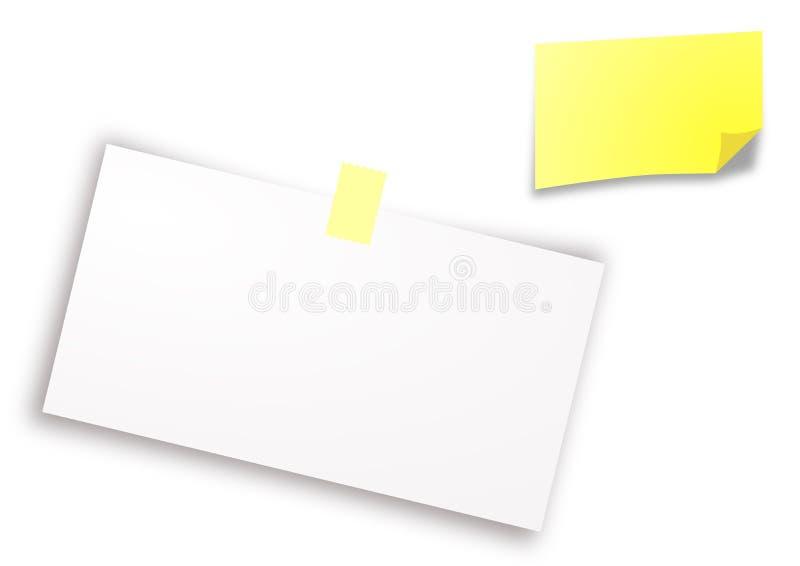 Bloco de notas de papel branco e amarelo fotos de stock