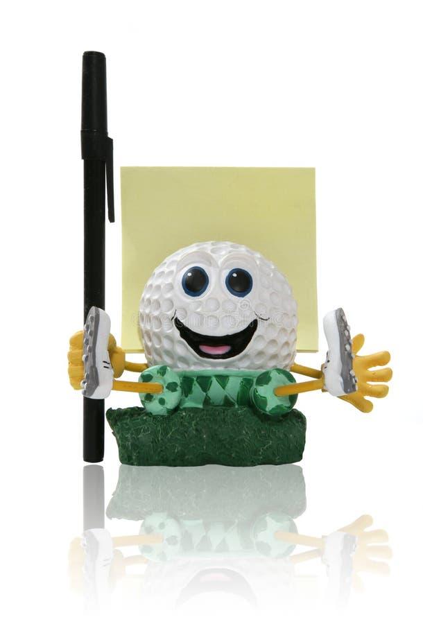 Bloco de notas do Golfball imagens de stock royalty free