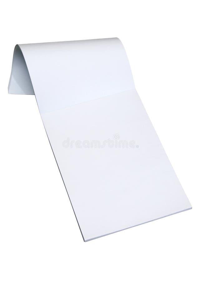 Bloco de notas em branco com trajeto fotografia de stock