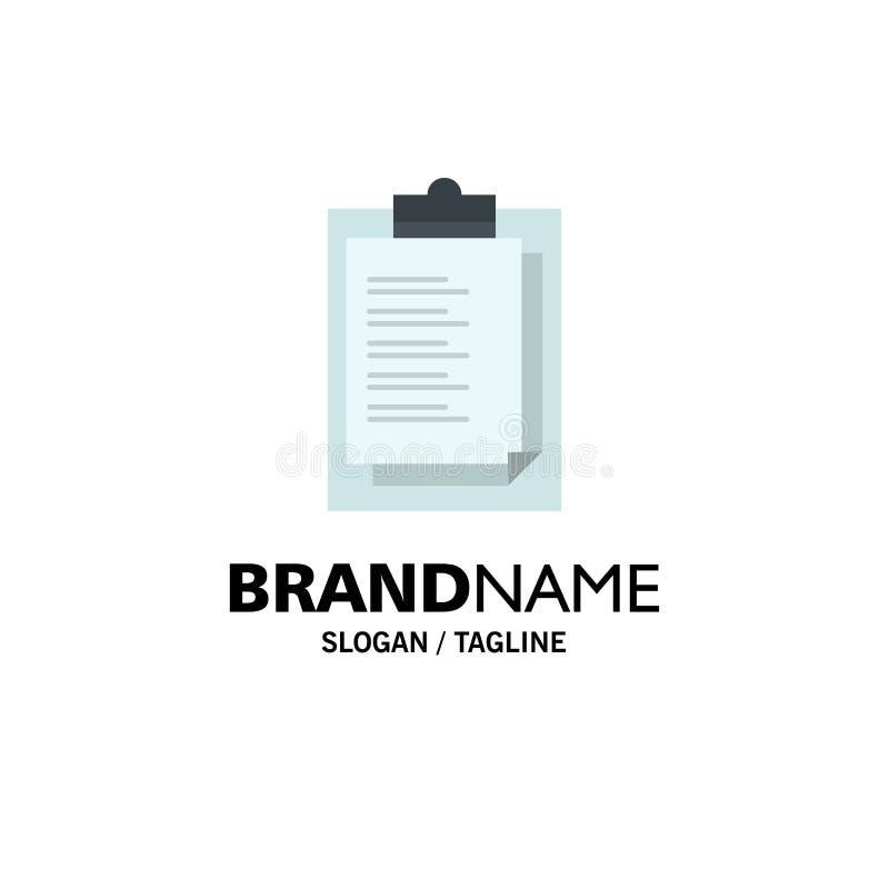 Bloco de notas, notas, resultado, negócio Logo Template da apresentação cor lisa ilustração do vetor