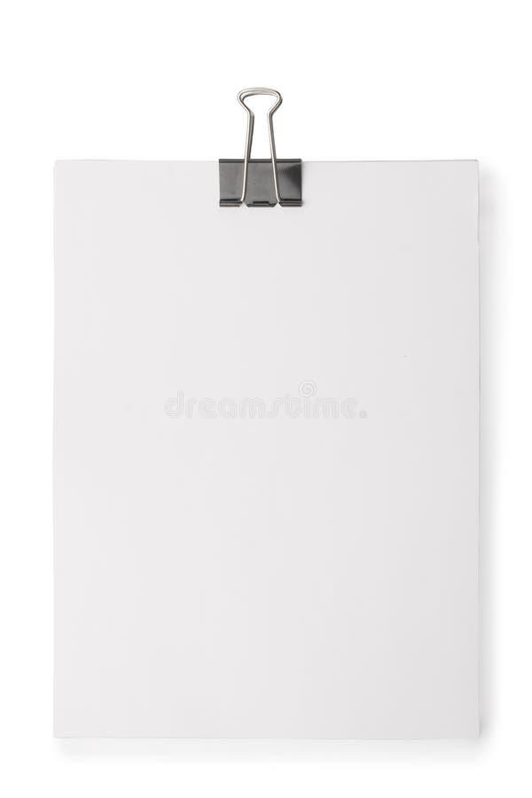 Bloco de papel anexado com paperclip fotos de stock royalty free