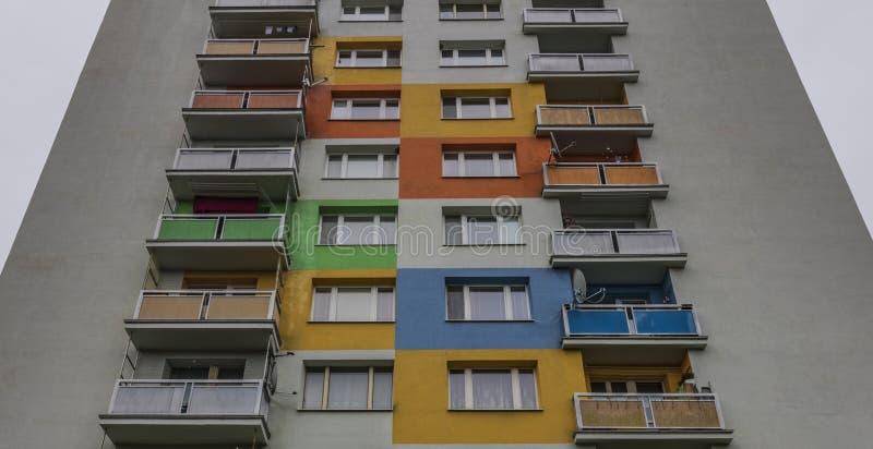 Bloco de planos na cidade de Banska Bystrica imagens de stock